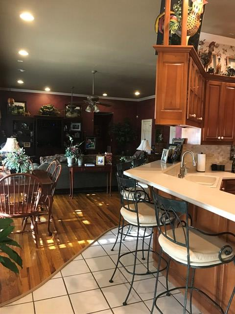 Open kitchen/family room